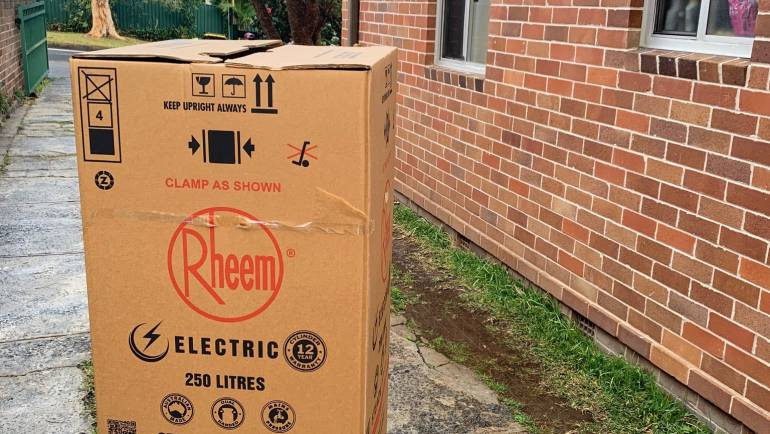 Rheem 491250 250L Electric Hot Water System Delivery