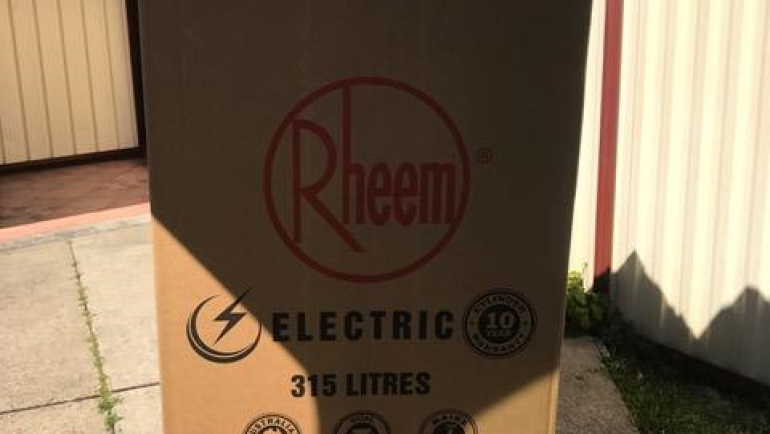 Rheem 492315 315L Electric Hot Water System Delivery