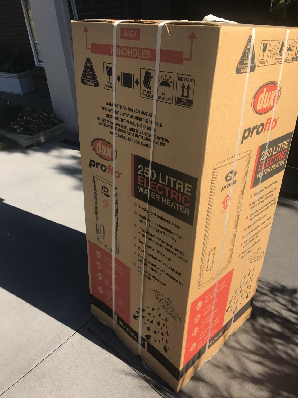 Dux 250S136 250L Electric Hot Water System Delivery