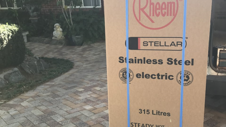 Rheem 4A1315 315L Stainless Steel Electric Hot Water System Delivery