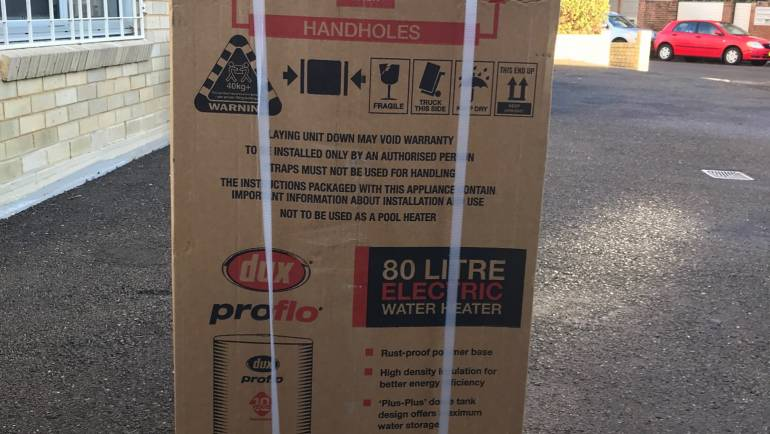 Dux 80T136 80L Electric Hot Water System Delivery