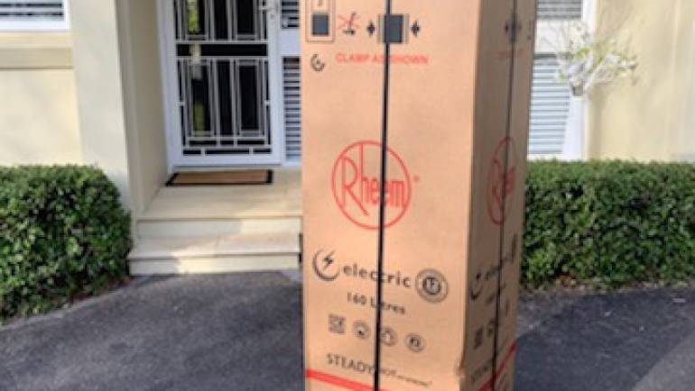 Rheem 491160 160L Electric Hot Water System Delivery