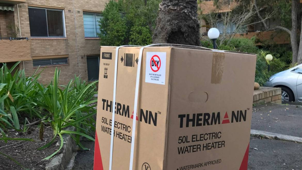 Thermann 50THM136 50ltr Electric Hot Water System Delivery